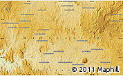 """Physical Map of the area around 18°31'34""""S,45°58'30""""E"""