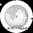Outline Map of Amparihibe, rectangular outline