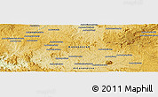 """Physical Panoramic Map of the area around 18°31'34""""S,45°58'30""""E"""