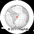 Outline Map of State of Minas Gerais, rectangular outline