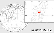 """Blank Location Map of the area around 18°31'34""""S,46°49'30""""E"""