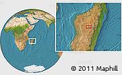 "Satellite Location Map of the area around 18°31'34""S,46°49'30""E"