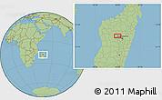 "Savanna Style Location Map of the area around 18°31'34""S,46°49'30""E"