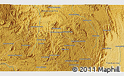 """Physical 3D Map of the area around 18°31'34""""S,47°40'29""""E"""
