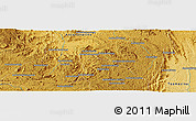 """Physical Panoramic Map of the area around 18°31'34""""S,47°40'29""""E"""