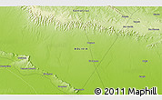 """Physical 3D Map of the area around 18°31'34""""S,58°34'30""""W"""