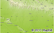 """Physical Map of the area around 18°31'34""""S,58°34'30""""W"""