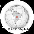 Outline Map of El Carmen, rectangular outline