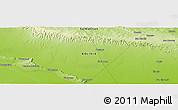 """Physical Panoramic Map of the area around 18°31'34""""S,58°34'30""""W"""
