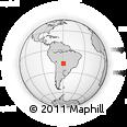 Outline Map of Roboré, rectangular outline