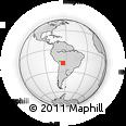 Outline Map of La Higuera, rectangular outline