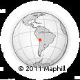 Outline Map of Belén, rectangular outline
