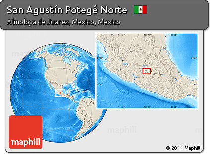 Free Shaded Relief Location Map of San Agustín Potegé Norte on guadalajara mexico map, puerto rico mexico map, salamanca mexico map, santa ana mexico map, cofradia mexico map, la union mexico map, las palmas mexico map, el golfo mexico map, santa rosa mexico map, socorro mexico map, sahagun mexico map, rosario mexico map, santa rita mexico map, santiago mexico map, zaragoza mexico map, santa lucia mexico map, carmen mexico map, cordoba mexico map, victoria mexico map, cortes mexico map,