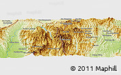 """Physical Panoramic Map of the area around 19°22'18""""N,101°13'29""""E"""