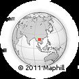 Outline Map of Xayaboury, rectangular outline