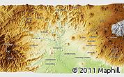 Physical 3D Map of Los Reyes de Salgado