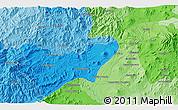 Political 3D Map of Los Reyes de Salgado