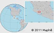 Gray Location Map of Los Reyes de Salgado