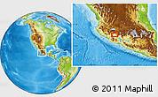 Physical Location Map of Los Reyes de Salgado