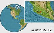 Satellite Location Map of Los Reyes de Salgado