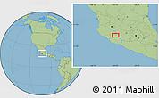 Savanna Style Location Map of Los Reyes de Salgado