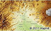 Physical Map of Los Reyes de Salgado