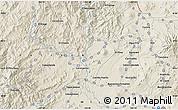 Shaded Relief Map of Los Reyes de Salgado