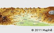 Physical Panoramic Map of Los Reyes de Salgado