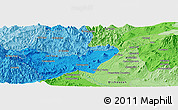 Political Panoramic Map of Los Reyes de Salgado