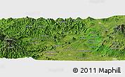 Satellite Panoramic Map of Los Reyes de Salgado