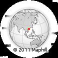 Outline Map of Hainan, rectangular outline