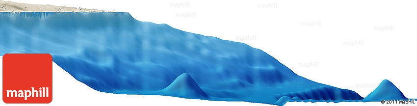 Shaded Relief Horizon Map of Ainaloa