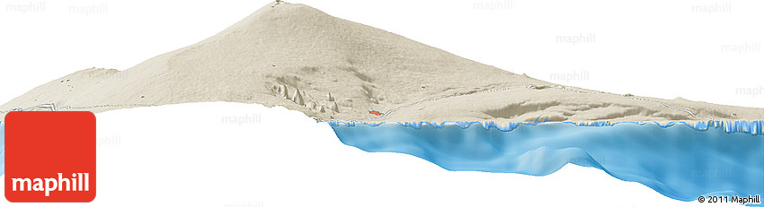 Shaded Relief Horizon Map of Glenwood