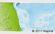 """Physical 3D Map of the area around 19°22'18""""N,37°28'30""""E"""