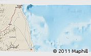 """Shaded Relief 3D Map of the area around 19°22'18""""N,37°28'30""""E"""