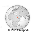"""Outline Map of the Area around 19° 22' 18"""" N, 37° 28' 30"""" E, rectangular outline"""