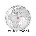 """Outline Map of the Area around 19° 22' 18"""" N, 38° 19' 30"""" E, rectangular outline"""