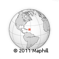 """Outline Map of the Area around 19° 22' 18"""" N, 63° 40' 30"""" W, rectangular outline"""