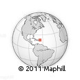 """Outline Map of the Area around 19° 22' 18"""" N, 66° 13' 29"""" W, rectangular outline"""