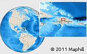 Shaded Relief Location Map of La Patilla