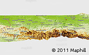 Physical Panoramic Map of La Patilla