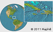 """Satellite Location Map of the area around 19°22'18""""N,75°34'29""""W"""