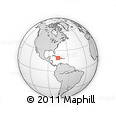 """Outline Map of the Area around 19° 22' 18"""" N, 75° 34' 29"""" W, rectangular outline"""