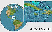"""Satellite Location Map of the area around 19°22'18""""N,76°25'30""""W"""
