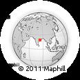 Outline Map of Teravali, rectangular outline