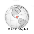 """Outline Map of the Area around 19° 22' 18"""" N, 86° 37' 30"""" W, rectangular outline"""