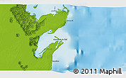 """Physical 3D Map of the area around 19°22'18""""N,87°28'29""""W"""