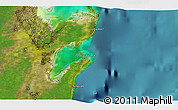 """Satellite 3D Map of the area around 19°22'18""""N,87°28'29""""W"""