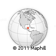 """Outline Map of the Area around 19° 22' 18"""" N, 87° 28' 29"""" W, rectangular outline"""