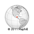 """Outline Map of the Area around 19° 22' 18"""" N, 91° 43' 29"""" W, rectangular outline"""